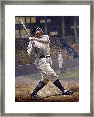Babe Ruth Framed Print by Gregory Perillo