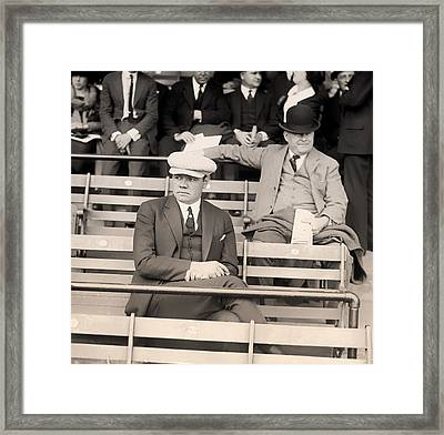 Babe Ruth In The Stands At Griffith Stadium 1922 Framed Print by Mountain Dreams