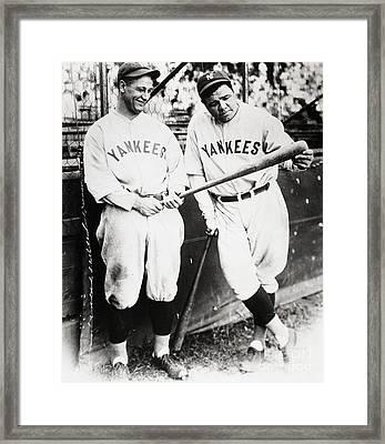 Babe Ruth Framed Print by Marvin Blaine