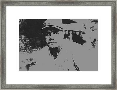 Babe Ruth Pant Splatter Framed Print by Brian Reaves