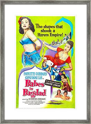 Babes In Bagdad, Us Poster, From Left Framed Print by Everett