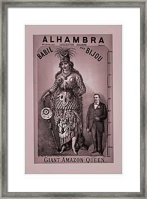 Babil And Bijou - Giant Amazon Queen Framed Print by Maciej Froncisz