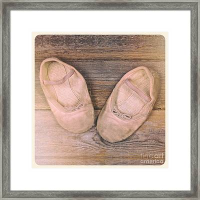 Baby Ballet Shoes Instant Photo Framed Print by Jane Rix