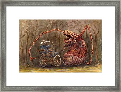 Baby Fight Framed Print by Ethan Harris