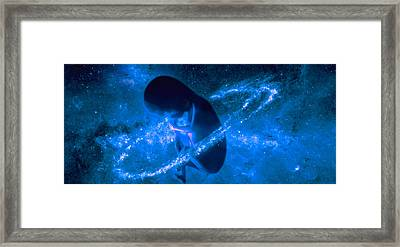 Baby In Universe Framed Print by Panoramic Images