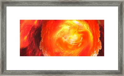 Baby In Uterus Framed Print by Panoramic Images