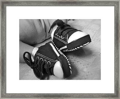 Baby Keds Framed Print by Hannah Keeling