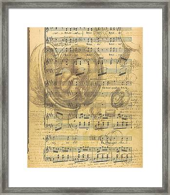Baby Music Framed Print by Georgia Fowler