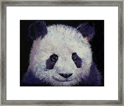 Baby Panda Framed Print by Michael Creese