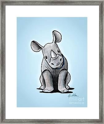 Baby Rhino Framed Print by Kim Niles