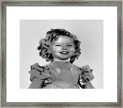 Baby Shirley Temple Sketch Framed Print by Linda Phelps