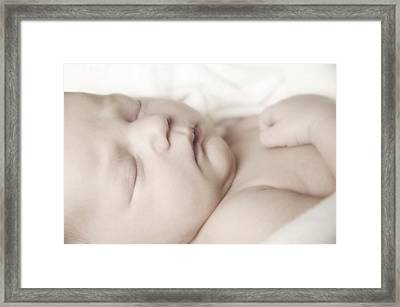 Baby Sleeping Framed Print by Don Hammond