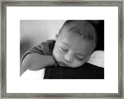 Baby Sleeps Framed Print by Lisa Phillips