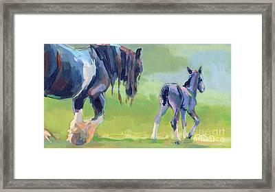 Baby Steps Framed Print by Kimberly Santini