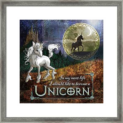 Baby Unicorn Framed Print by Evie Cook