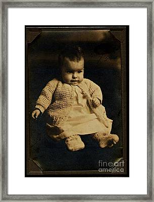 Baby Virginia 1930 Framed Print by Unknown