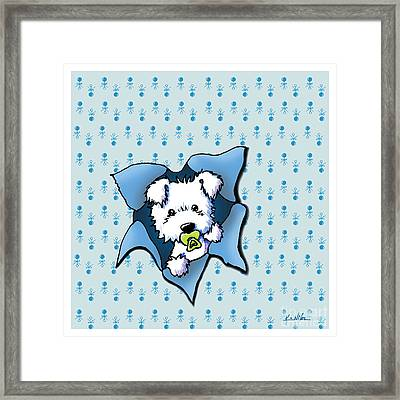 Baby Westie Blast Framed Print by Kim Niles
