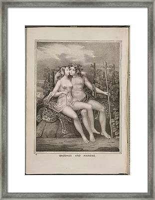 Bacchus And Ariadne Framed Print by British Library