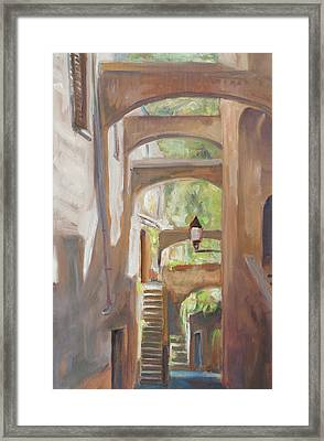 Back Alley Framed Print by Marco Busoni