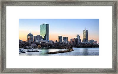 Back Bay Sunrise Framed Print by JC Findley