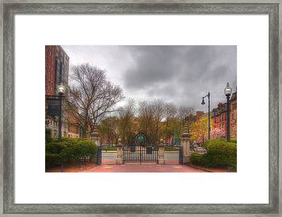 Back Bay Through The Public Garden - Boston Framed Print by Joann Vitali