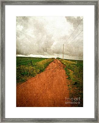 Back Country Road Prince Edward Island Framed Print by Edward Fielding