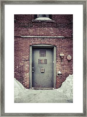 Back Door Alley Way Framed Print by Edward Fielding