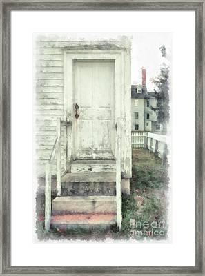 Back Door Framed Print by Edward Fielding