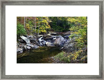 Back Fork Of Elk River Waterfall Framed Print by Thomas R Fletcher
