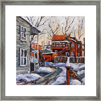 Back Lanes 02 Montreal By Prankearts Framed Print by Richard T Pranke