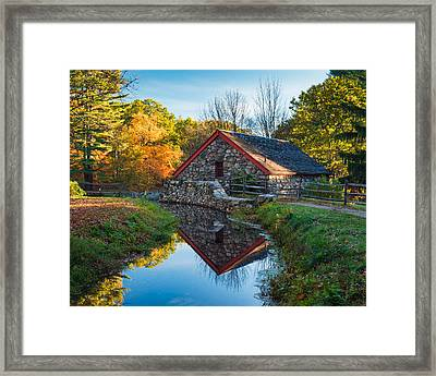Back Of The Grist Mill Framed Print by Michael Blanchette