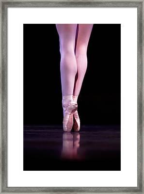 Back Pointe Framed Print by Lone  Dakota Photography