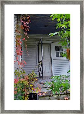 Back Porch Door Framed Print by Jill Battaglia