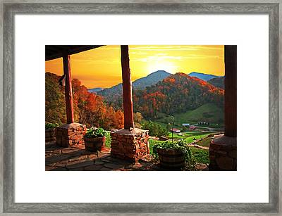 Back Porch Paradise Framed Print by Lynn Bauer