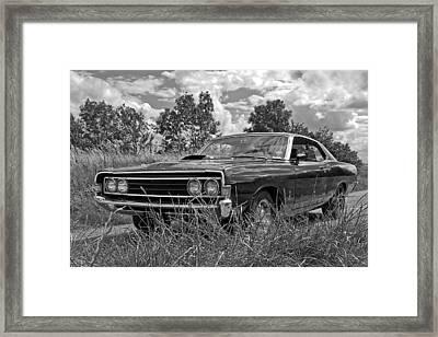 Back Road Find - Ford Torino Cobra Jet 1969 Framed Print by Gill Billington