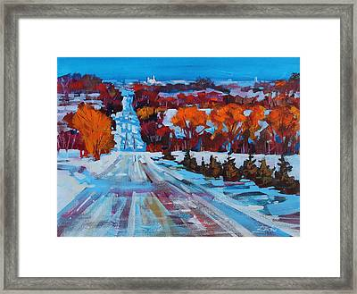 Back Road To Collingwood Framed Print by Brian Buckrell