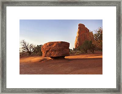 Back Roads At Monument Valley Framed Print by Mike McGlothlen