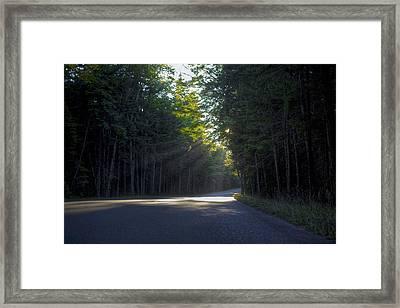 Back Roads Framed Print by Kenny Noddin