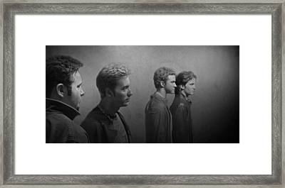 Back Stage With Nsync Bw Framed Print by David Dehner