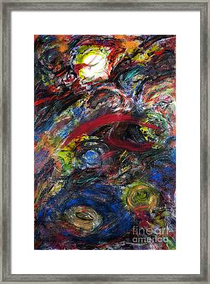 Back To Black - Galaxy Storm Framed Print by Jason Stephen