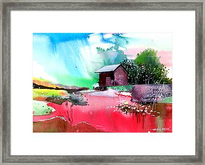 Back To Pavilion Framed Print by Anil Nene