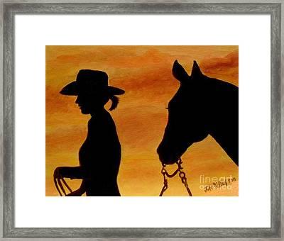 Back To The Barn Framed Print by Julie Brugh Riffey