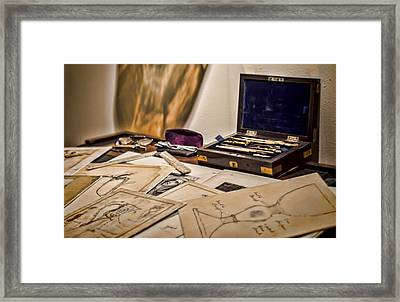 Back To The Drawing Board Framed Print by Heather Applegate