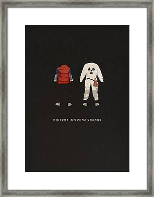Back To The Future Framed Print by Alyn Spiller