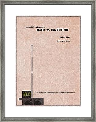 Back To The Future Framed Print by Ayse Deniz