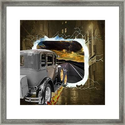 Back To The Future Framed Print by Davandra Cribbie