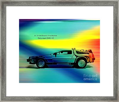 Back To The Future Framed Print by Marvin Blaine