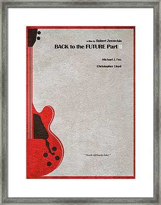 Back To The Future Part II Framed Print by Ayse Deniz