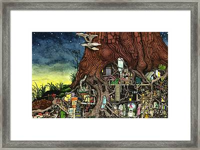 Back To Your Roots Framed Print by Colin Thompson
