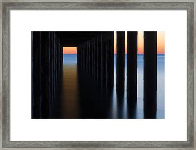 Back Under The Pier Framed Print by Steve Myrick
